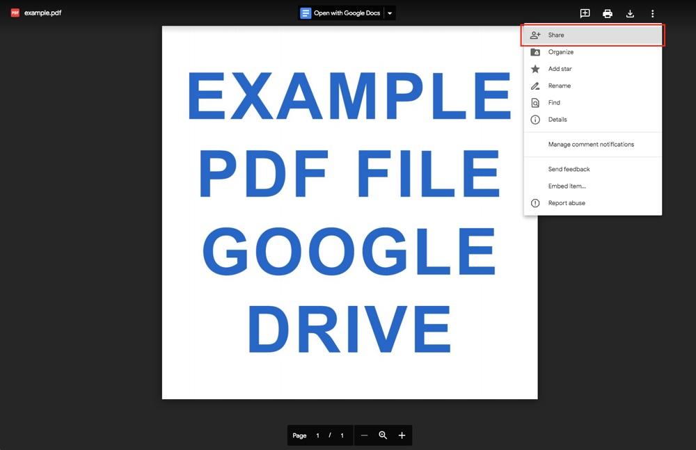 Google Drive: Paylaş