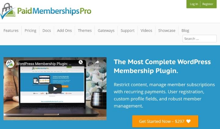 ücretli üyelikler pro'nun ana sayfası