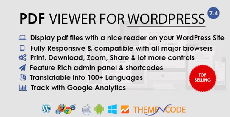 WordPress Eklentisi için PDF görüntüleyici