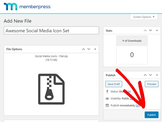 İndirilebilir dosyanızı MemberPress'de yayınlama