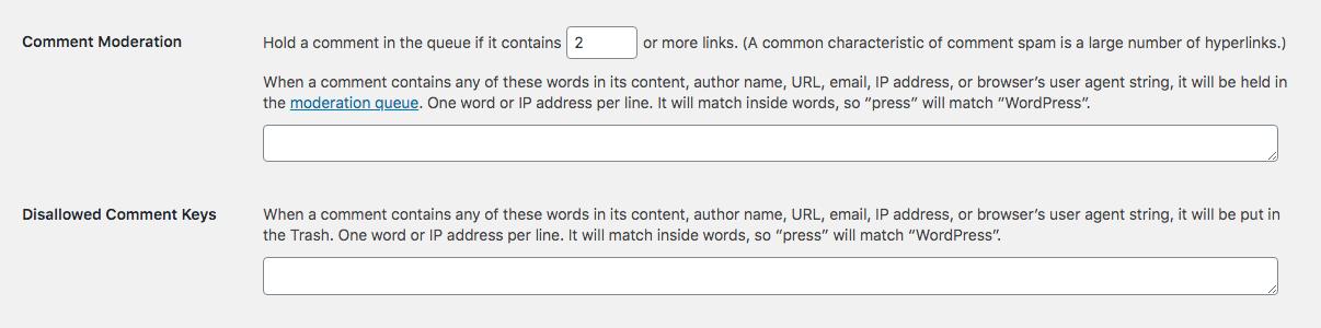 WordPress Yorum Moderasyonu: Filtreler