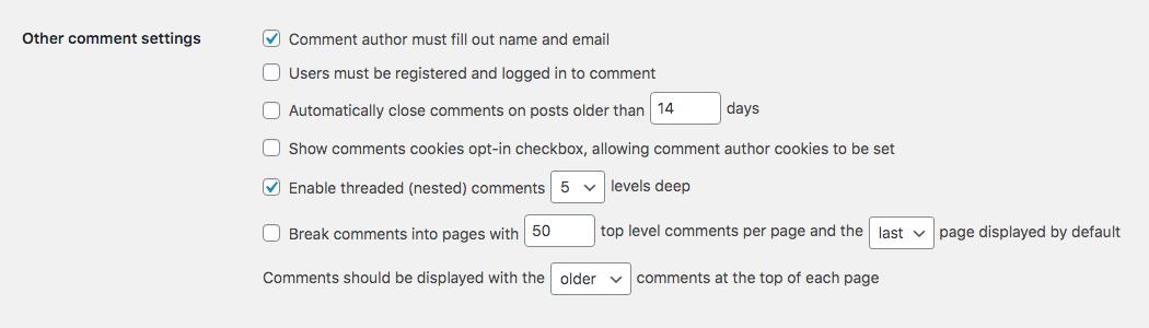WordPress Yorum Moderasyonu: Diğer Yorum Ayarları