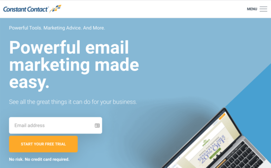 Constant Contact e-posta pazarlama yazılımı