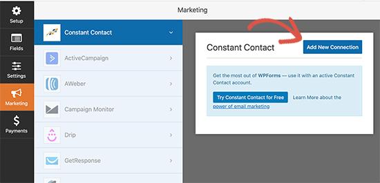Constant Contact hesabınızı bağlayın