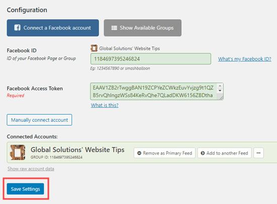 Değişikliklerinizi kaydetmek için bağlı hesap ayrıntılarınızın altındaki Kaydet düğmesini tıklayın