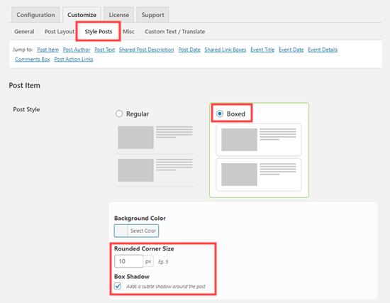 Yuvarlak kutu gönderileri oluşturmak için Facebook yayınınıza stil ekleme