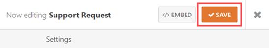 WordPress formunuzu korumak için değişikliklerinizi kaydettiğinizden emin olun.