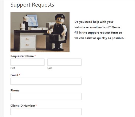 Kullanıcı parolayı girdikten sonra form görüntülenir
