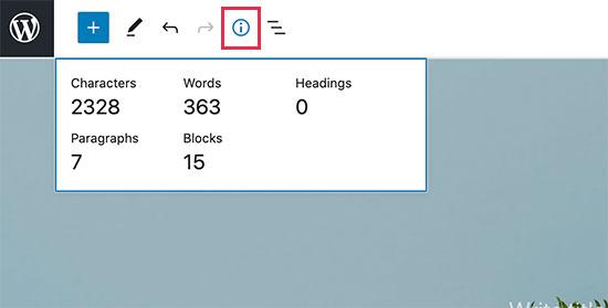 WordPress 5.6'daki bilgi paneli