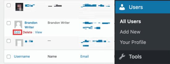 WordPress kullanıcıları panosu
