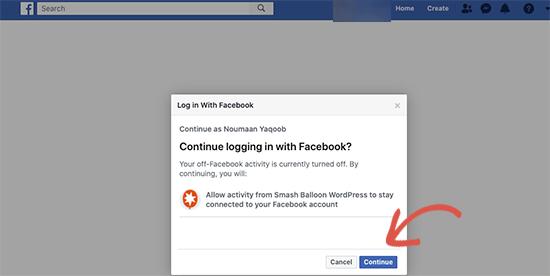 Facebook'a giriş yapın ve devam edin