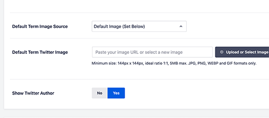 Setting a default term image