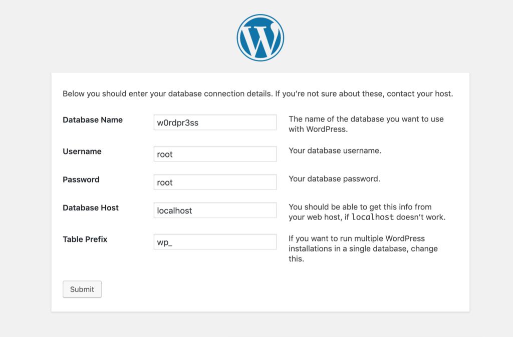 MAMP'de WordPress kurulumu