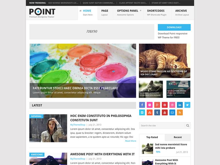 point ücretsiz wordpress blog teması