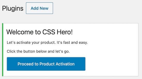 Activate CSS Hero