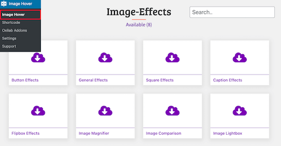 Choose image hover effect