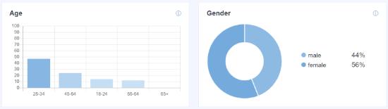 WordPress'teki Web Sitesi Ziyaretçilerinin Yaşı ve Cinsiyeti