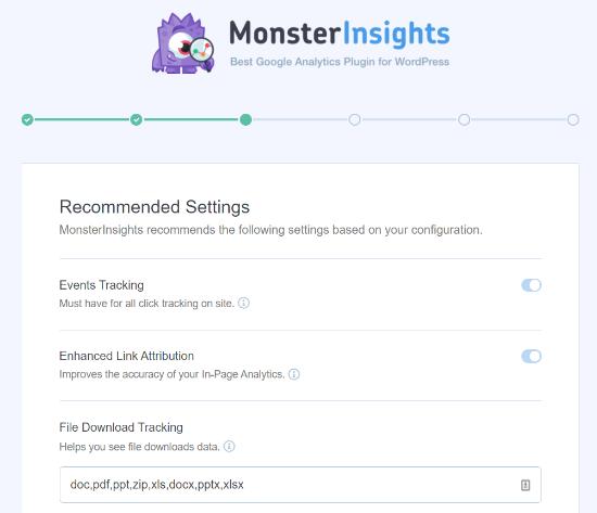 MonsterInsights'ta Önerilen Ayarlar