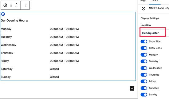 WordPress'te bir gönderi veya sayfaya çalışma saatleri ekleme
