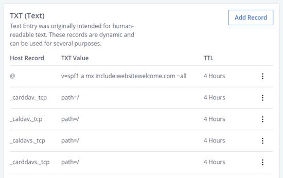 Bluehost'ta DNS TXT kayıtları