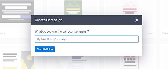 Kampanya adını seçin