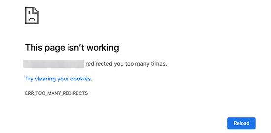 Google Chrome'da Çok Fazla Yönlendirme Hatası