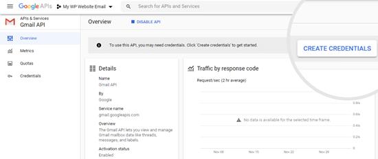 Google API'niz için kimlik bilgilerinizi oluşturma