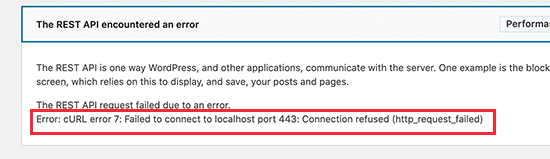 WordPress'te cURL hatası 7