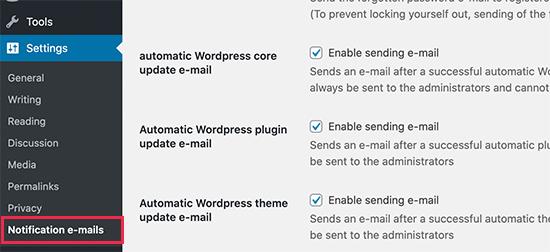 E-posta bildirimlerini devre dışı bırakın