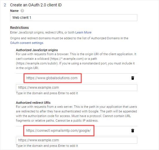 WP Mail SMTP ayarlarınızdan URL'yi girin
