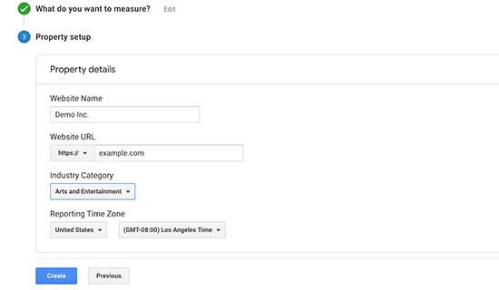 Google Analytics hesap ayarları