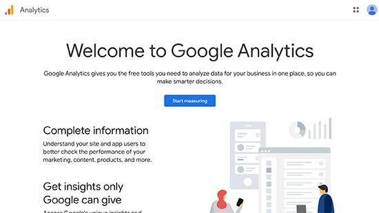Google Analytics kaydı