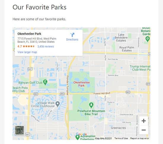 Web sitesine yerleştirilmiş Google haritası