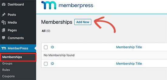Yeni üyelik planı ekle