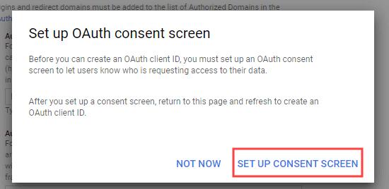 İzin ekranını kurma