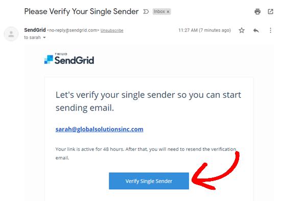 Tek gönderenin e-posta adresini doğrulayın