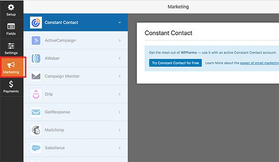 E-posta pazarlama hizmetinizi WPForms'a bağlayın