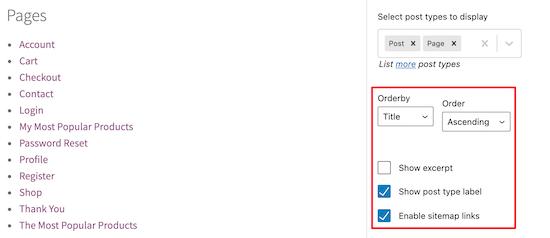Site haritası sırasını ve görünümünü özelleştirin