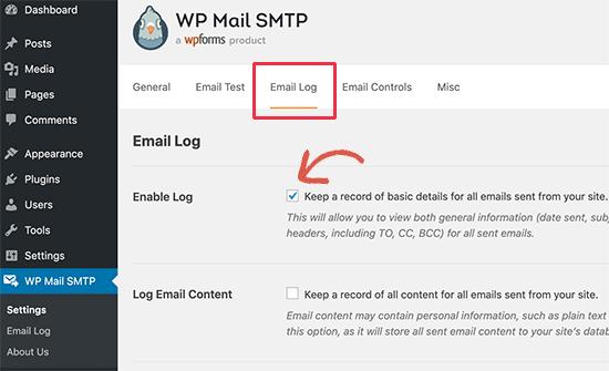 E-posta günlüklerini aç