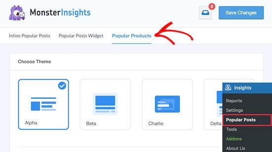 Popüler ürünler blog gönderisini özelleştirin